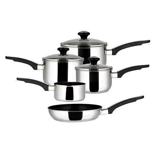 Prestige Stainless Steel Pan Set of 5, Silver