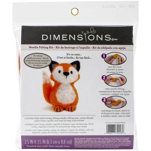 Dimensions Feltworks Needle Felting Kit-Fox