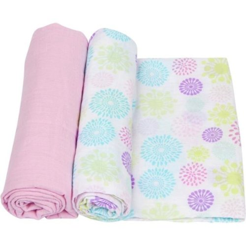 MiracleWare 3141 Colorful Bursts Muslin Swaddle, 2 Pack