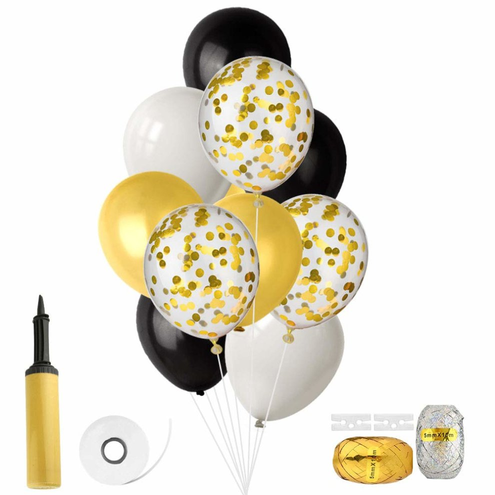 FEPITO 46 Pieces Balloons With Balloon Inflator For Wedding Birthday Baby Shower Party Decorations 12 Inches