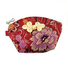 Set of 2 Traditonal Chinese Embroidered Jewelry Coin Pouch Bag Wallet Purses   M