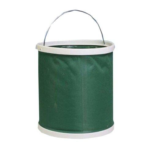 13L Green Multifunctional Car Washing Bucket Outdoor Activities Water Bucket