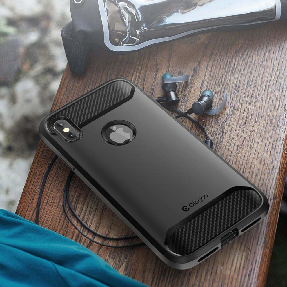 brand new b49d3 9b39a Clayco iPhone XS Max Case, [Xenon Series] Full-body Rugged Case with  Built-in Screen Protector and Max Protection Compatible with Apple iPhone  XS...