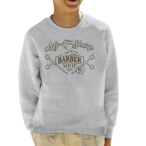 My T Sharp Barber Shop Queens Coming To America Kid's Sweatshirt