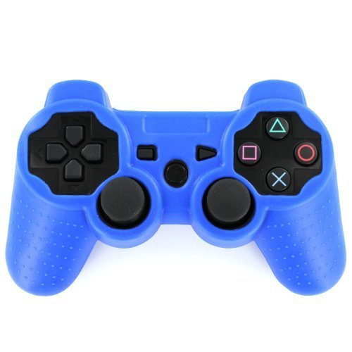 Protective case for PS3 Controlelr silicone soft skin ZedLabz - royal blue