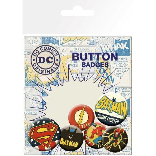 Dc Comics Retro Badge Pack