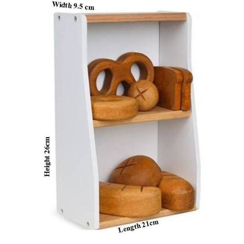 Childrens Wooden Bakery Crate & Buns Set (A36208) - Nursery / Pre School
