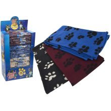100 x 115cm Pet Blanket - 4 Assorted Colours. - Extra Large Soft Cosy Warm -  extra large soft cosy warm fleece pet dog cat animal blanket throw 115