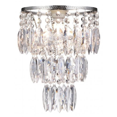 Easy Fit Nikki Clear Sparkly Lamp Shade for Ceiling Fitting Modern Chandelier Decoration