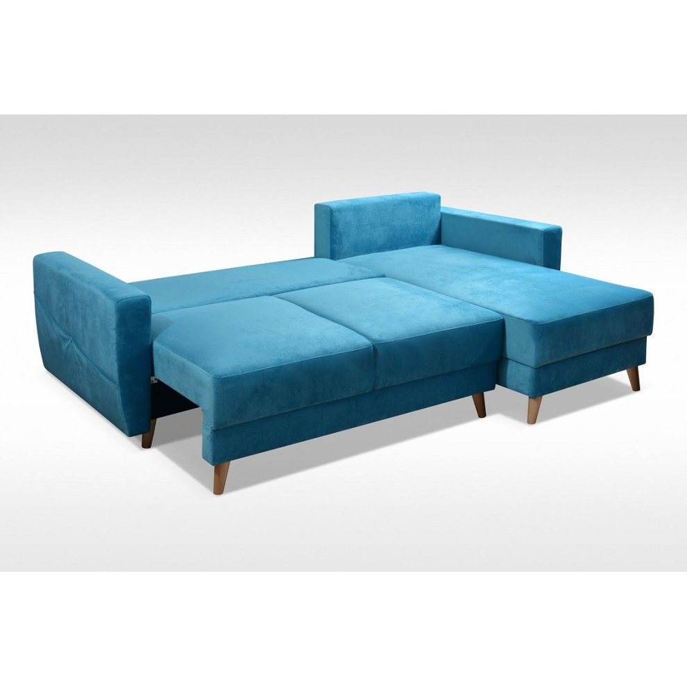 corner sofa bed retro storage sawana fabric on onbuy