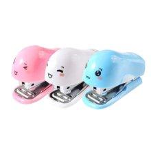 Set of 2 [Blue Dolphin] Mini Staplers Hand Staplers Desktop Staplers,6.8*4*5CM