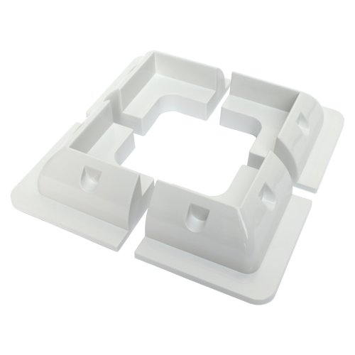 Set of 4 corner plastic mounting brackets for fixing solar panels to motorhomes, campervans, caravans, boats or any other roofs and flat surfaces