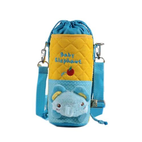 Lovely Kindergarten Blue Elephant Bottle Messenger Bag (22*8CM)