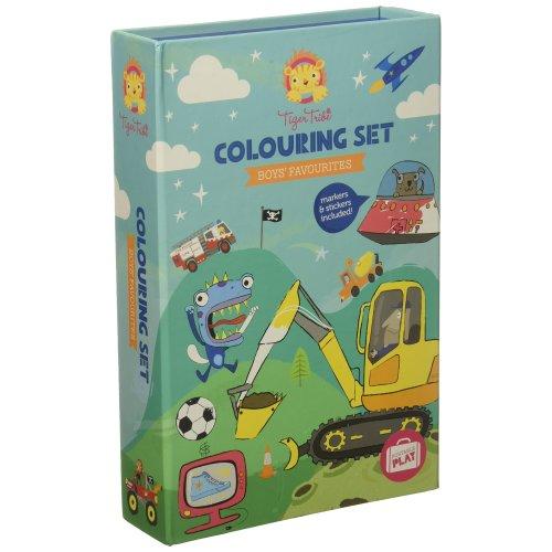 Tiger Tribe 60207 Colouring Set, Boys Favorites Arts and Crafts Kit