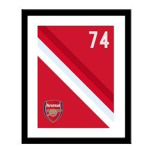 Personalised Arsenal FC Stripe Print
