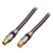 Lindy 37780 0.5m Coax Coax Grey coaxial cable