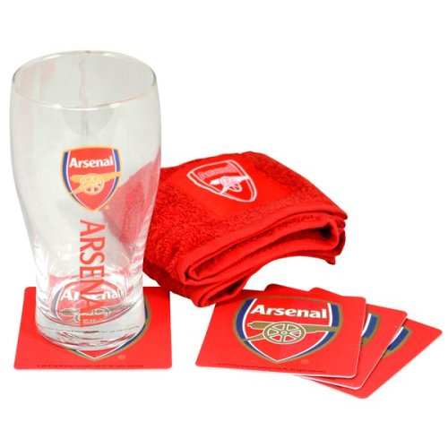 Arsenal Wordmark Mini Bar Set - Football Official Merchandise Team Soccer -  football official mini bar set merchandise team wordmark soccer