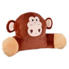 Cute Plush Seat Cushions Extra Soft Back Chair Pad  for Kitchen Office Car?Monkey