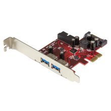 StarTech.com 4-port PCI Express USB 3.0 card - 2 external, 2 internal - SATA power