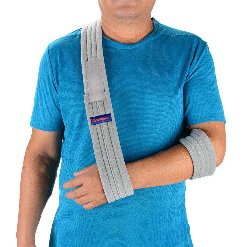 60a7659728 Arm Sling Shoulder Immobilizer- Adjustable Arm Support Strap for Broken Arm  Immobilizer ...