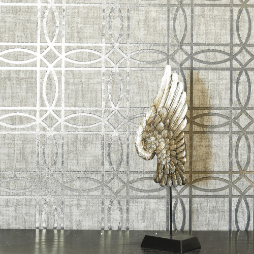 Arthouse Geometric Trellis Metallic Geo Square Foil Non-Woven Flat Surface Wallpaper 903205