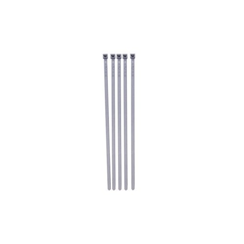 Cable Ties - Wheel Trims - Silver - 380mm x 4.6mm - Pack Of 100
