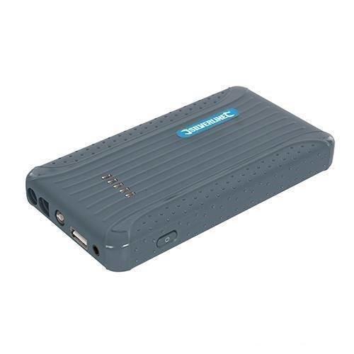 Silverline 12v Lithium Power Bank & Jump Starter 6000mah - Phone Car 423352 -  silverline 12v lithium power bank jump starter phone car 6000mah 423352