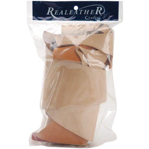 Realeather Crafts Suede Trim Scrap Bag 8oz-Assorted