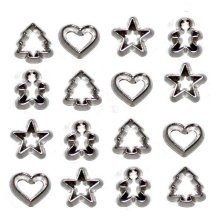 Mini Cookie Cutters - Novelty Craft Buttons & Embellishments by Dress It Up