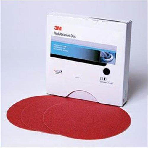 3M 1109 P320A Red Abrasive Stikit Disc, 6 In. P320, 100 Discs Per Roll