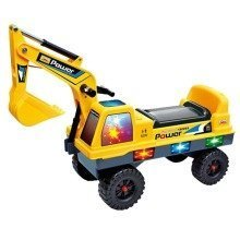 deAO Childrens Ride on Excavator Digger Truck Outdoor Toy Ride On Vehicle with Lights