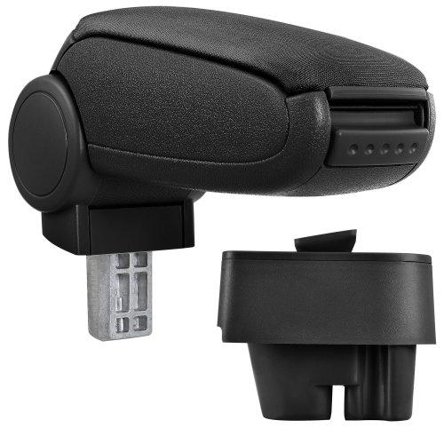 [pro.tec] Car Armrest Perfekt Fit - Centre Console + inkl. Storage Box - textil cover / black