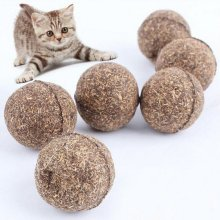 2pcs Cat Mint Ball Play Toys Ball Coated with Catnip  Bell Toy for Pet Kitten