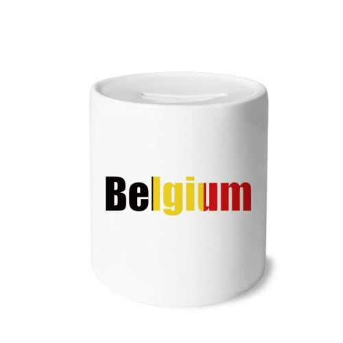 Belgium Country Flag Name Money Box Saving Banks Ceramic Coin Case Kids Adults