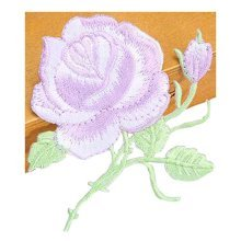 Set Of 2 Elegant Lace Embroidery Fabric Dticker Decorative Decals Light Purple