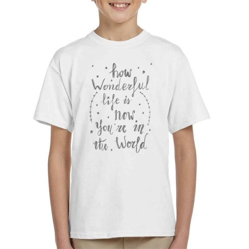 How Wonderful Life Is Elton John Lyric Kid's T-Shirt