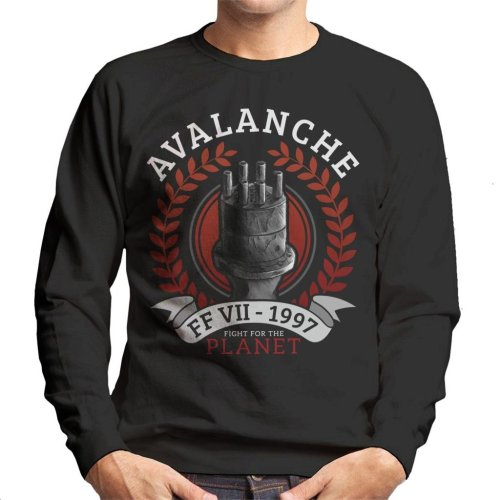Avalanche Fight For The Planet Final Fantasy VII Men's Sweatshirt