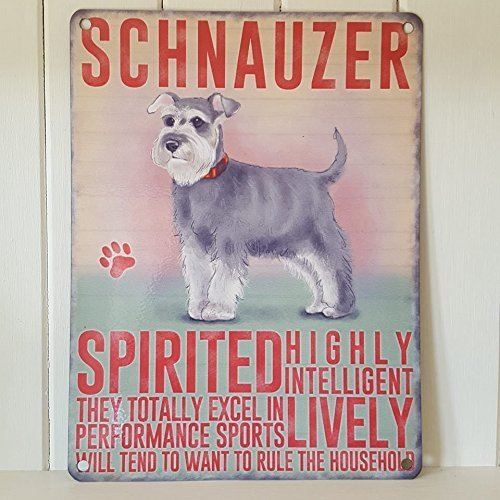 Schnauzer dog metal wall plaque 15 x 20cm