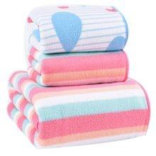 Durable Strong Absorbent Towel Bath Towels Sets(Multicolor)