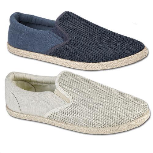 Toledo Mens Twin Gusset Espadrille Pumps Shoes