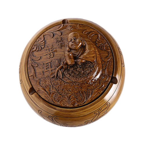 Creative Resin Maitreya Buddha Ashtray Retro Home Decoration Great Gift