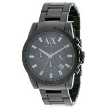 Armani Exchange Black Ion Stainless Steel Chronograph Mens Watch AX2093