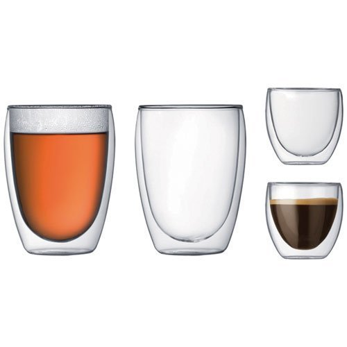 Bodum K4557-10 Double Wall Glasses - Transparent, Pack of 4