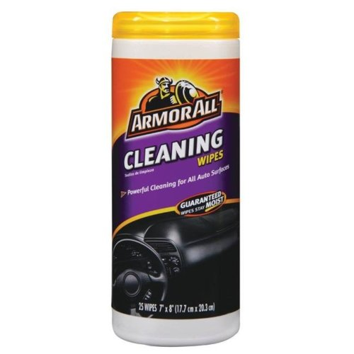 Armor All 8112302 Vinyl, Leather & Rubber Cleaner, Assorted - 25 Wipes