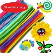 Super Long 50cm x 6mm Pipe Cleaners Pack Of 50