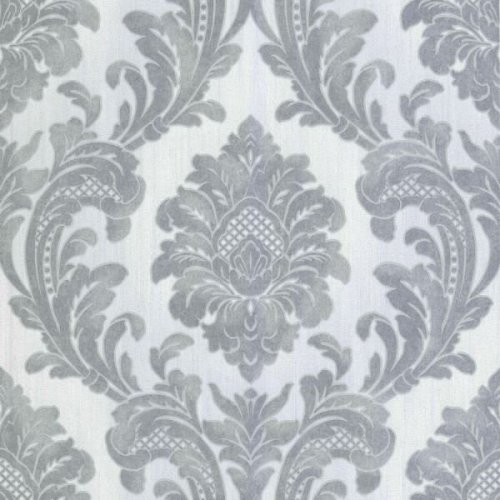 Elegant Milano 7 Damask Grey  Silver Wallpaper Wall Decoration 10.05M X 0.53M