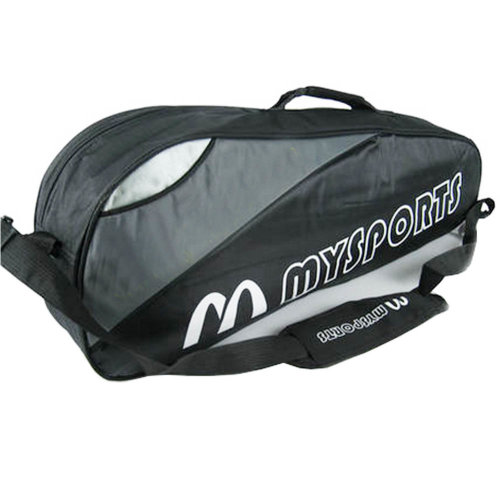 Adjustable Shoulder Strap Badminton Racket Cover Badminton Racket Bag Tennis Bag (3 Racquet) , Black