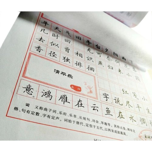 Three Hundreds Ci of Song Dynast Chinese Characters Copybook for Pen Calligraphy