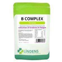 Vitamin B Complex 100 Tablets B1, B2, B3, B5, B6, B9, B12, Folic Acid Biotin