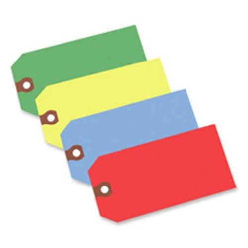 Consumer Products  Shipping Tag- No 5- Plain- 4-.75in.x2-.38in.- Red